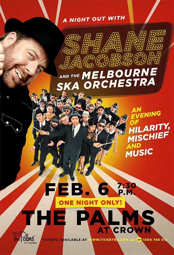 A Night Out with Shane Jacobson and the Melbourne Ska Orchestra